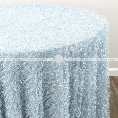 MINKY TABLE LINEN - ICE BLUE