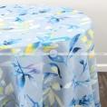 PASTEL LEAF TABLE LINEN - BLUE
