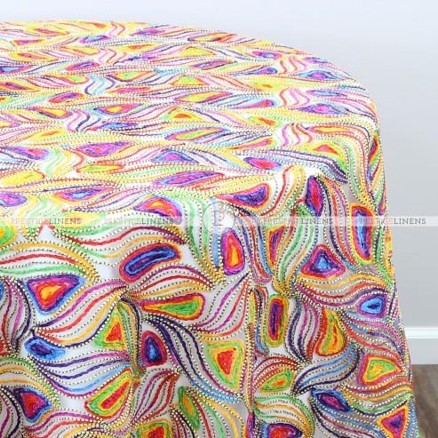 RAINBOW WAVE TABLE LINEN - MULTI