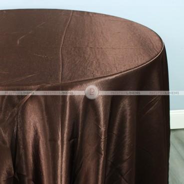 Shantung Satin Table Linen - 335 Dk Brown
