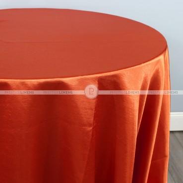 Shantung Satin Table Linen - 337 Rust