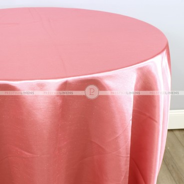 Shantung Satin Table Linen - 432 Coral