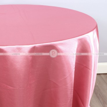 Shantung Satin Table Linen - 444 Lt Coral