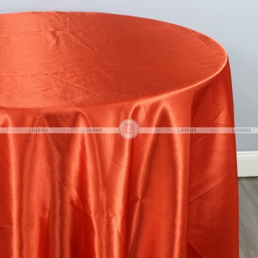 Shantung Satin Table Linen - 447 Dk Orange
