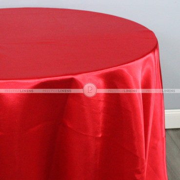 Shantung Satin Table Linen - 626 Red