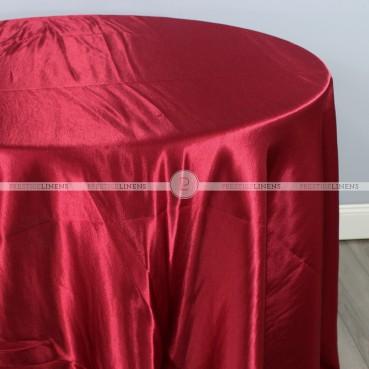 Shantung Satin Table Linen - 627 Cranberry