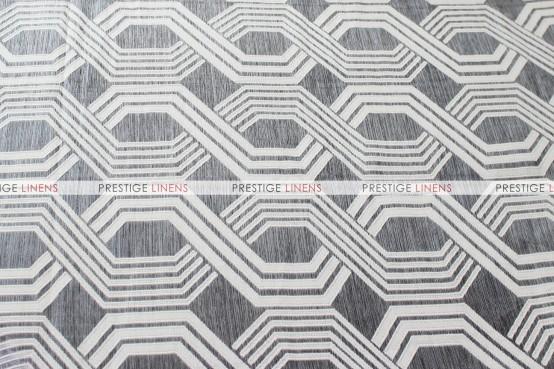 Geometric Jacquard Table Runner - Grey