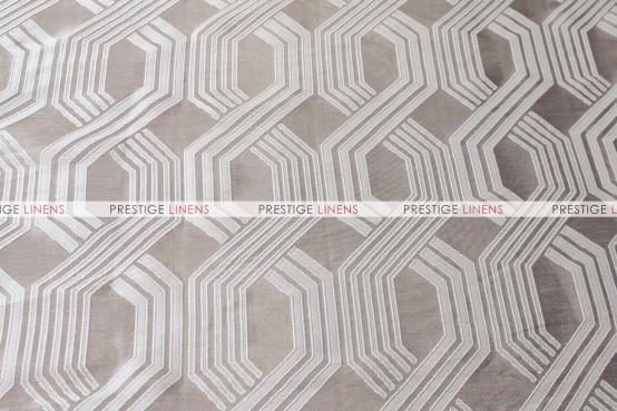 Geometric Jacquard Table Runner - Taupe