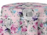 POLY PRINT VINTAGE FLORAL TABLE LINEN - LIGHT PINK