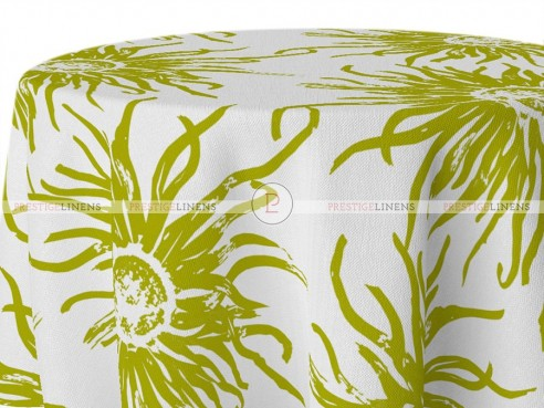 POLY PRINT WILDFLOWER TABLE LINEN - AVOCADO
