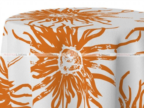 POLY PRINT WILDFLOWER TABLE LINEN - CLEMENTINE