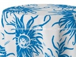 POLY PRINT WILDFLOWER TABLE LINEN - COBALT