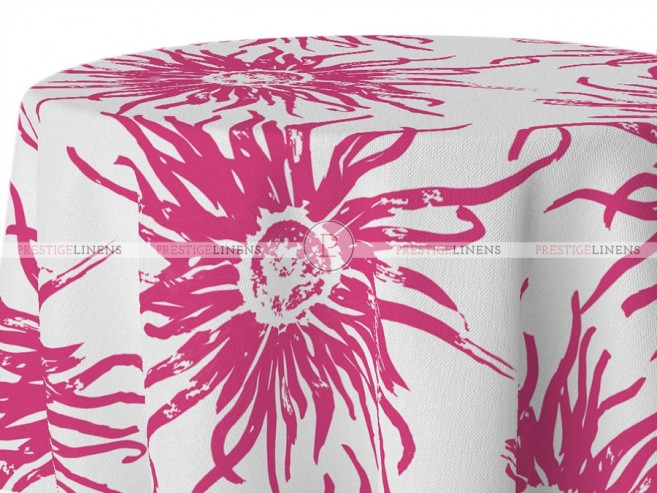 POLY PRINT WILDFLOWER TABLE LINEN - FRUIT PUNCH