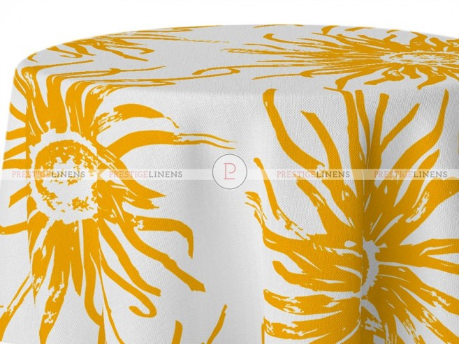 POLY PRINT WILDFLOWER TABLE LINEN - GOLDEN ROD