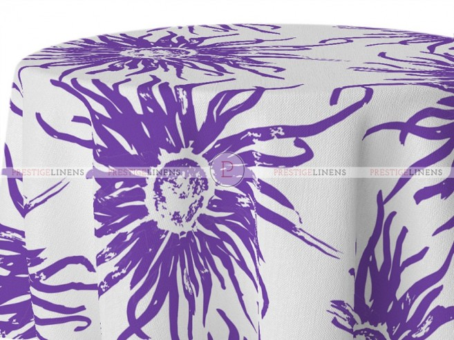 POLY PRINT WILDFLOWER TABLE LINEN - VIOLET