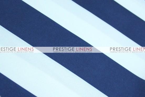 Striped Print Poly Napkin - Navy