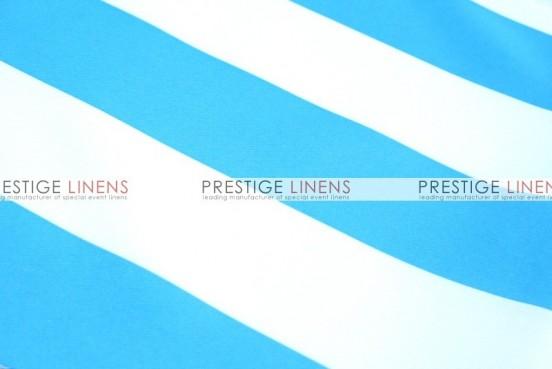 Striped Print Poly Napkin - Turquoise