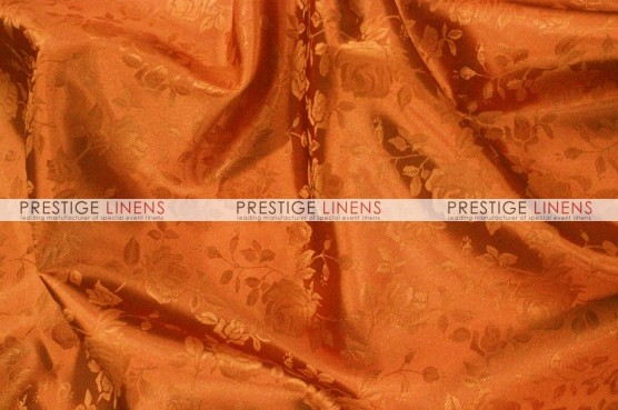 Brocade Satin Pillow Cover - Cinnamon