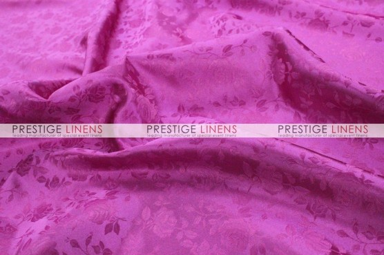 Brocade Satin Pillow Cover - Fuchsia