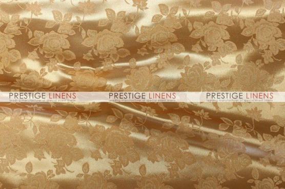 Brocade Satin Pillow Cover - Gold