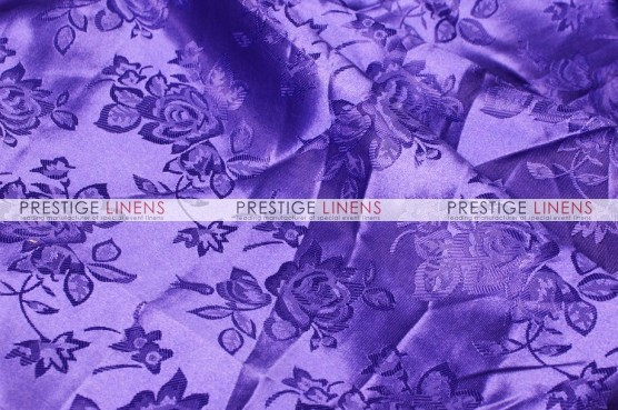 Brocade Satin Pillow Cover - Purple