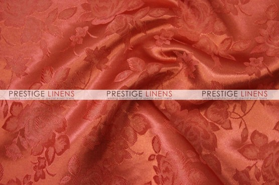 Brocade Satin Pillow Cover - Rust