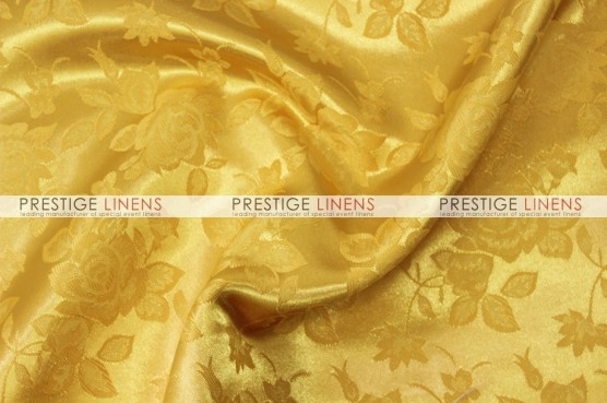 Brocade Satin Pillow Cover - Yellow