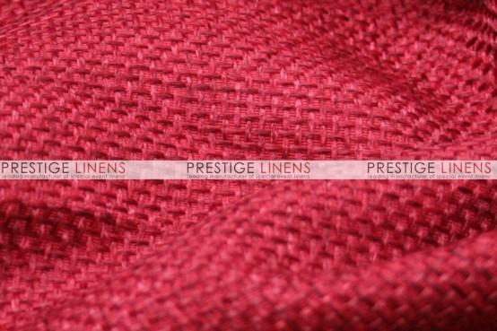 Jute Linen Pillow Cover - Red