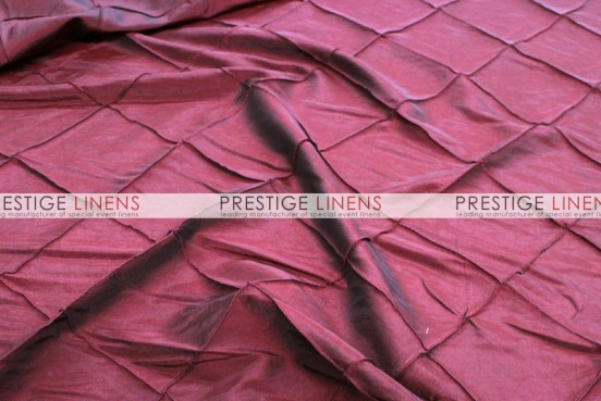 Pintuck Taffeta Pillow Cover - Burgundy