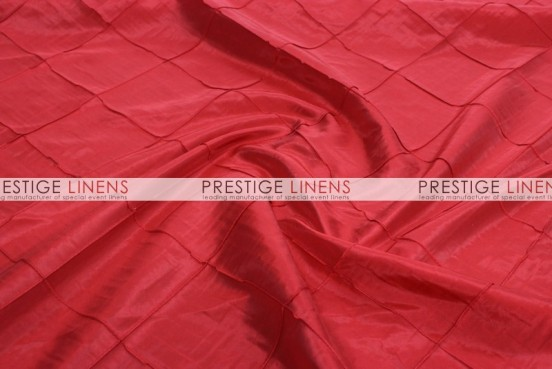 Pintuck Taffeta Pillow Cover - Red
