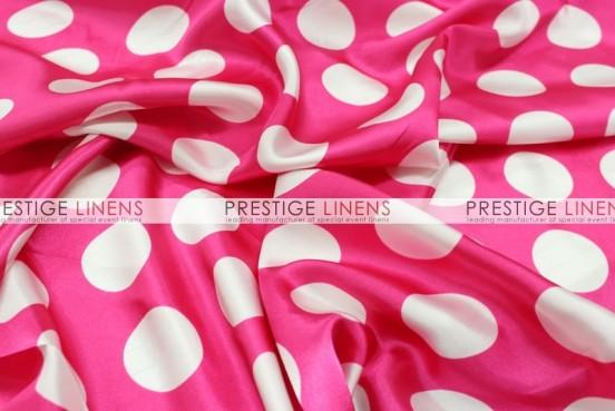 Polka Dot Print Charmeuse Pillow Cover - Fuchsia/White