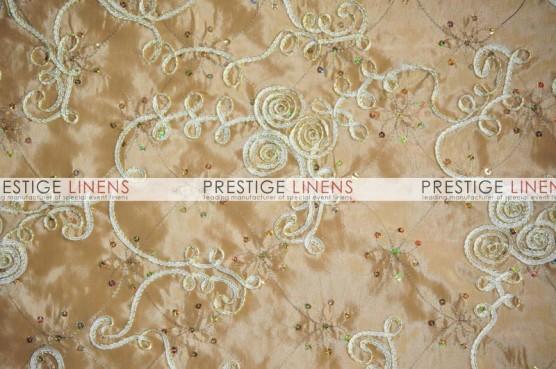 Ribbon Sequins Taffeta Pillow Cover - Gold
