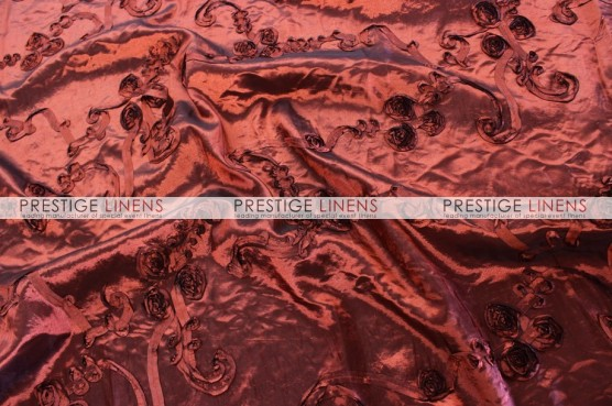 Ribbon Taffeta Pillow Cover - Burgundy