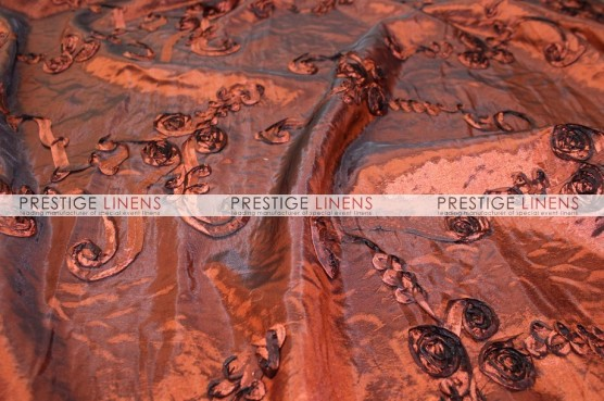 Ribbon Taffeta Pillow Cover - Rust