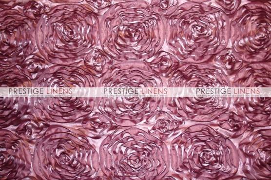 Rosette Satin Pillow Cover - Dk Mauve