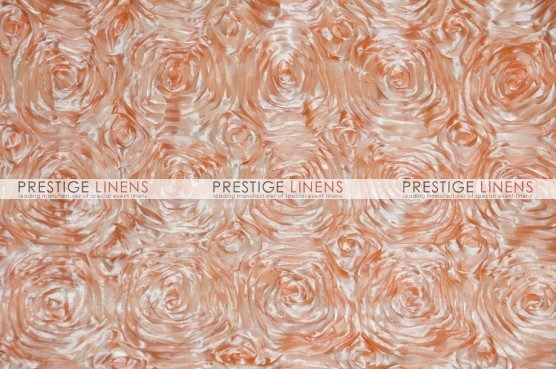 Rosette Satin Pillow Cover - Peach