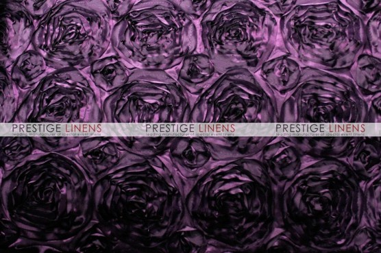 Rosette Satin Pillow Cover - Plum