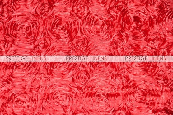 Rosette Satin Pillow Cover - Red