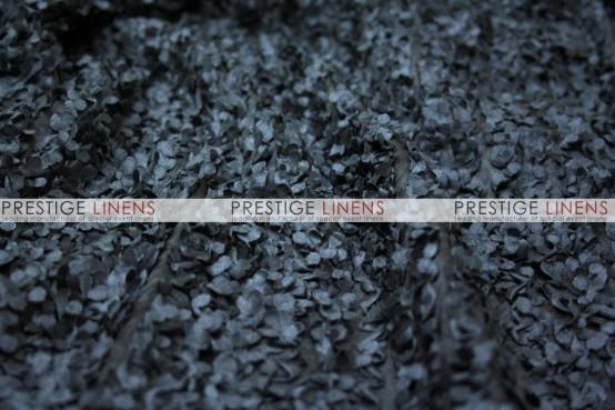 Snow Petal Pillow Cover - Black