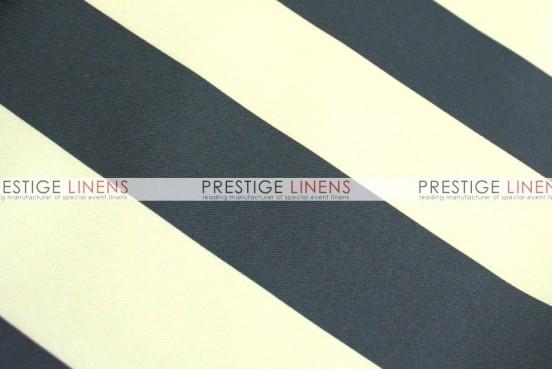 Striped Print Poly Pillow Cover - Khaki/Black