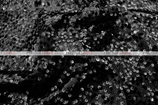 Taffeta Sequins Embroidery Pillow Cover - Black