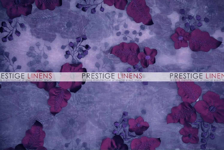 Applique Organza Table Linen Plum Prestige Linens
