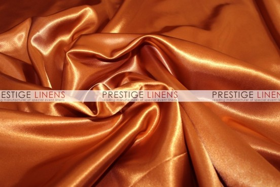 Bridal Satin Table Linen - 337 Rust