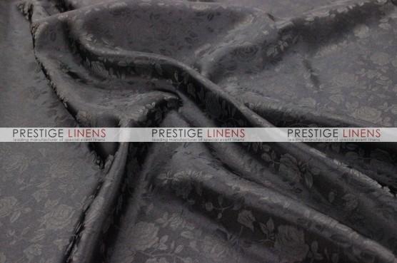 Brocade Satin Table Linen - Black