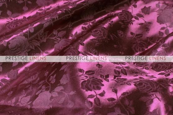 Brocade Satin Table Linen - Burgundy