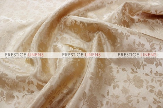Brocade Satin Table Linen - Champagne