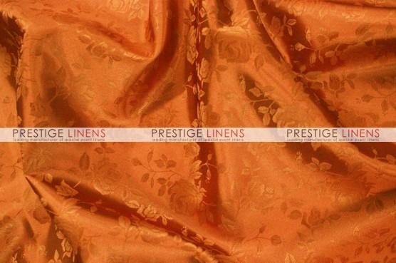 Brocade Satin Table Linen - Cinnamon