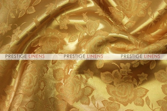 Brocade Satin Table Linen - Dk Gold