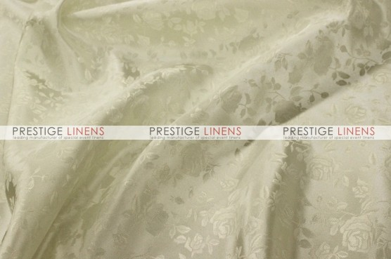 Brocade Satin Table Linen - Ivory