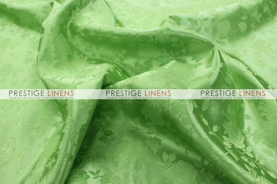 Brocade Satin Table Linen - Lime